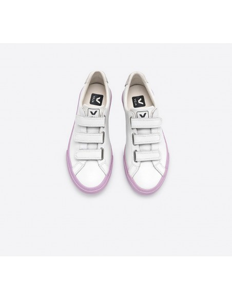 3-LOCK COURO EXTRA WHITE LILAS SOLE