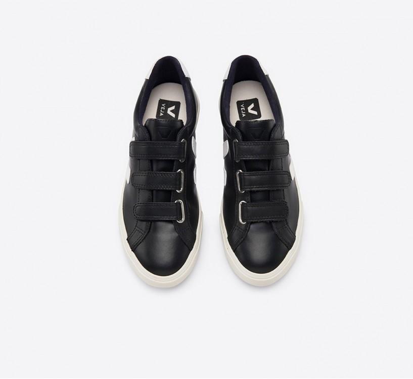 3-LOCK LOGO COURO BLACK WHITE