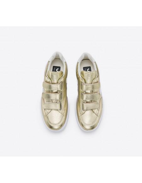 V12 3-LOCK COURO GOLD WHITE