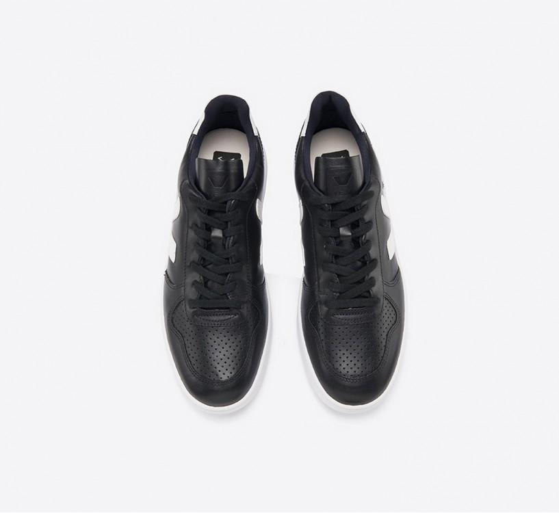 V10 COURO BLACK WHITE WHITE SOLE